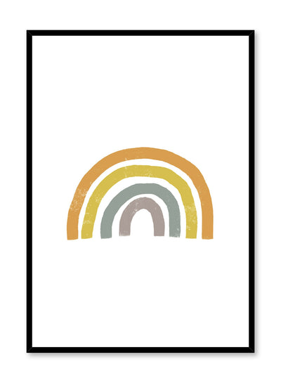 Modern minimalist poster by Opposite Wall with abstract design of Rainbow with white bacground