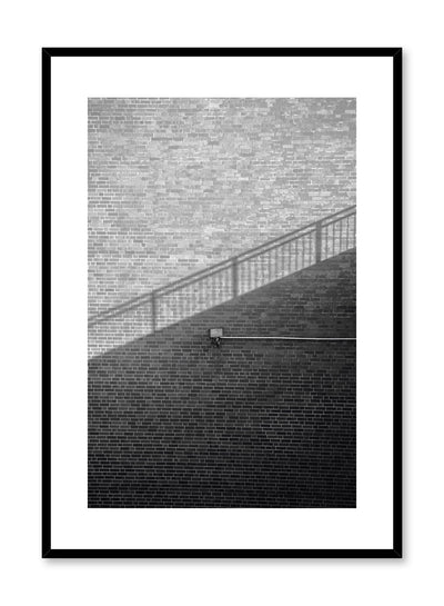 Modern minimalist poster by Opposite Wall with black and white photography of shadow and staircase
