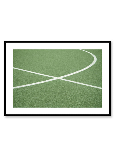 Modern minimalist poster by Opposite Wall with photography of soccer field