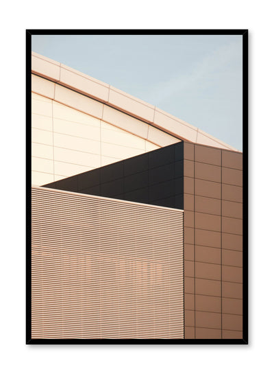 Modern minimalist poster by Opposite Wall with photography of buildings with beige bricks