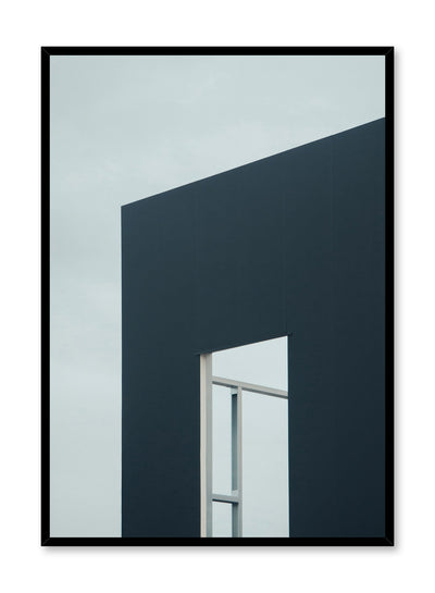 Modern minimalist poster by Opposite Wall with photography of blue building window