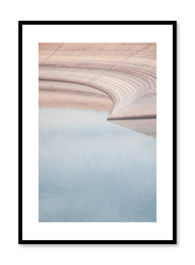 Modern minimalist poster by Opposite Wall with photography of stairs and water