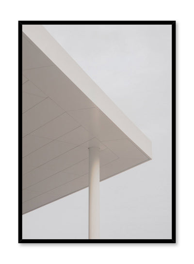 Modern minimalist poster by Opposite Wall with photography of corner of building