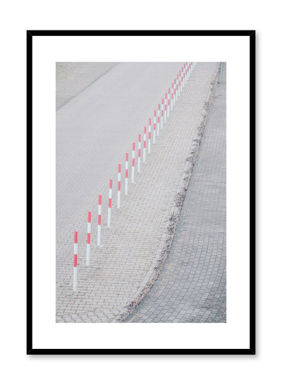 Modern minimalist poster by Opposite Wall with photography of poles on road