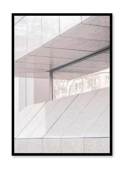 Modern minimalist poster by Opposite Wall with photography of building