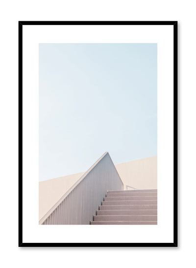 Modern minimalist poster by Opposite Wall with photography of beige stairs