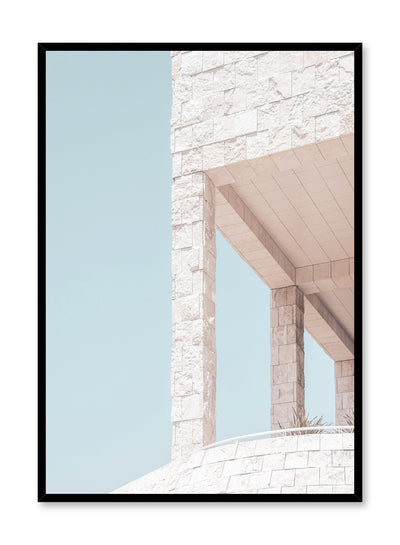 Modern minimalist poster by Opposite Wall with photography of beige bricks and columns
