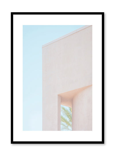 Modern minimalist poster by Opposite Wall with photography of terracotta building corner