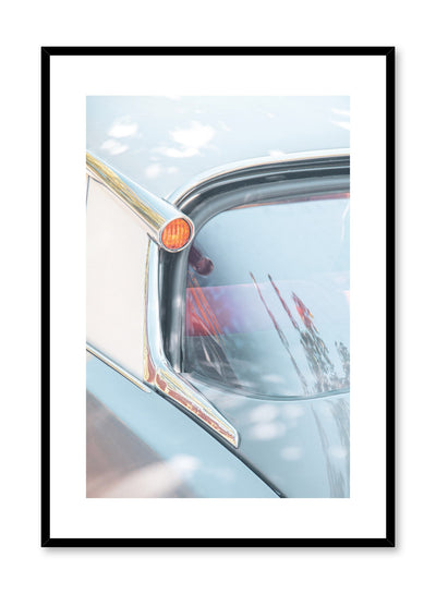 Modern minimalist poster by Opposite Wall with photography of vintage car headlight