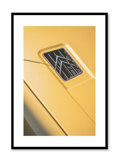 Modern minimalist poster by Opposite Wall with photography of vintage Citroën car logo
