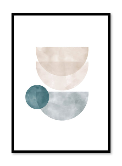Modern minimalist poster by Opposite Wall with abstract illustration of watercolour bowl shapes