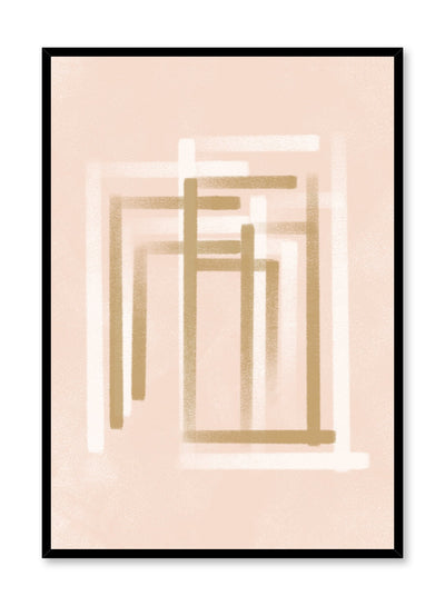 Modern minimalist poster by Opposite Wall with abstract illustration of white and beige colour lines