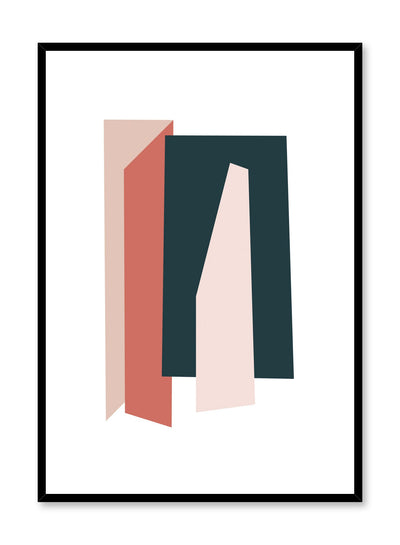 Modern minimalist poster by Opposite Wall with abstract colour shapes
