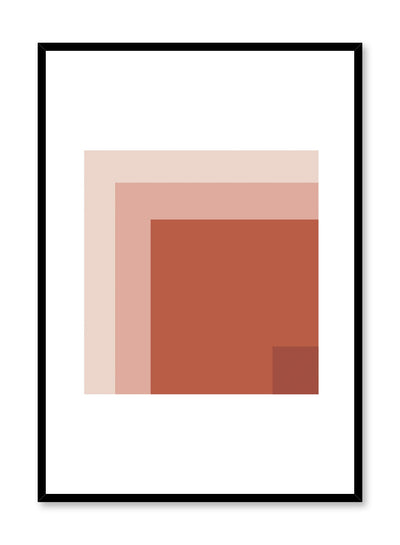 Modern minimalist poster by Opposite Wall with abstract squares inside squares
