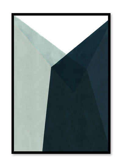 Modern minimalist poster by Opposite Wall with abstract blue and green angled shapes