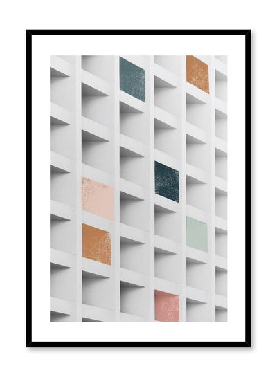 Modern minimalist poster by Opposite Wall with abstract coloured squares