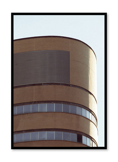 Modern minimalist poster by Opposite Wall with photography of round building