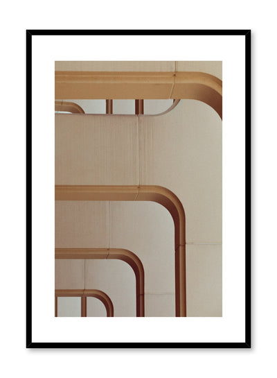 Modern minimalist poster by Opposite Wall with photography of building arches