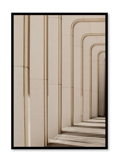 Modern minimalist poster by Opposite Wall with photography of building arches in the sun