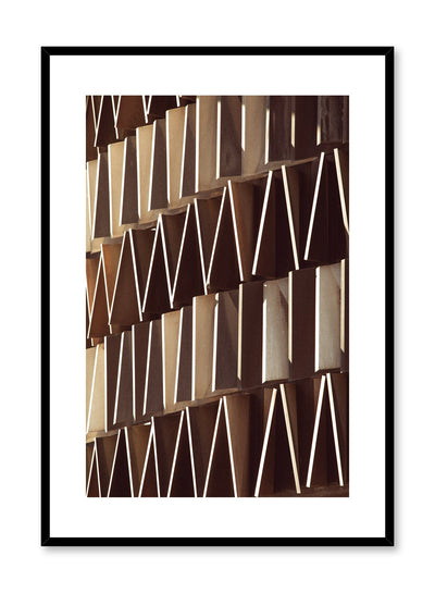 Modern minimalist poster by Opposite Wall with photography of different shapes on a building