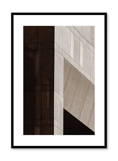 Modern minimalist poster by Opposite Wall with photography of close-up of cement building