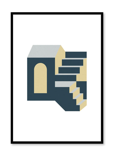 Minimalist design poster by Opposite Wall with Stairway to Heaven abstract graphic design