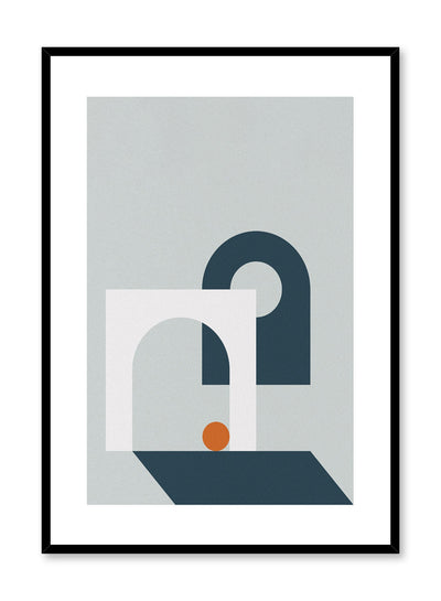 Minimalist design poster by Opposite Wall with Hole in One abstract graphic design