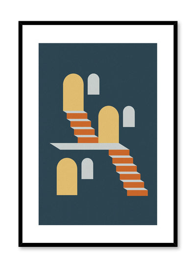 Minimalist design poster by Opposite Wall with Two Flights abstract graphic design