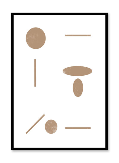 Minimalist design poster by Opposite Wall with Dot Dot Dash abstract graphic design