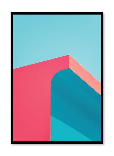 Modern minimalist colourful photography of Flamingo Arc