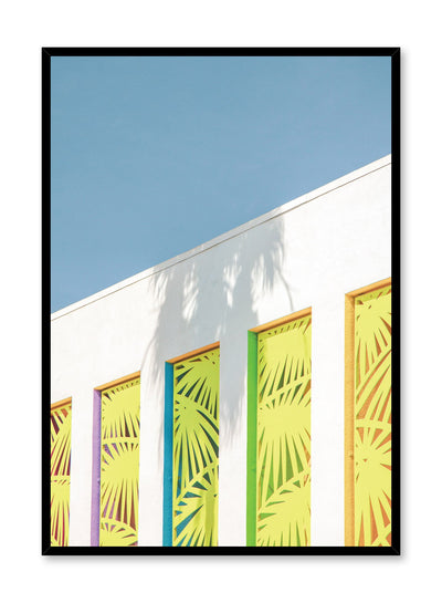 Modern minimalist colourful architecture photography - Festive Windows poster