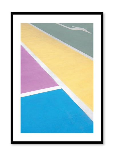 Modern minimalist colourful architecture photography - Colourblock poster