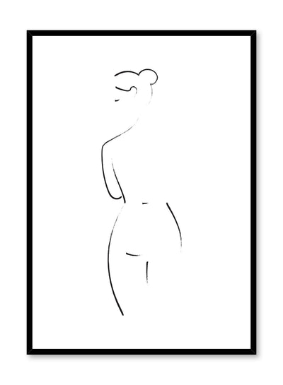 Modern minimalist painted illustration poster by Opposite Wall - Modesty