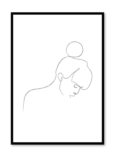 Modern minimalist delicate line art poster by Opposite Wall - Top Knot