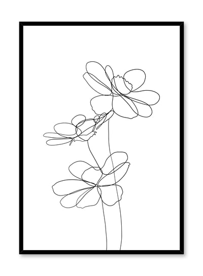 Modern minimalist delicate line art poster by Opposite Wall - Pretty Petals