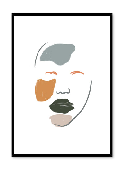 Modern minimalist poster by Opposite Wall with feminine woman illustration - Camoflage
