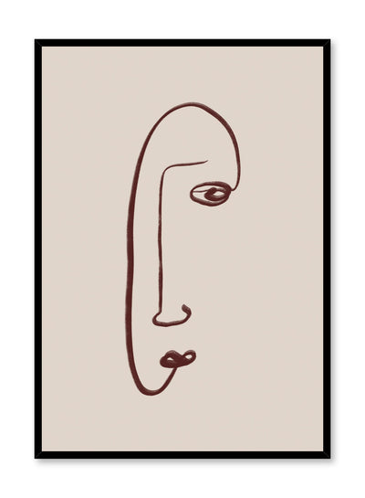 Modern minimalist poster by Opposite Wall with abstract face illustration - Elongated