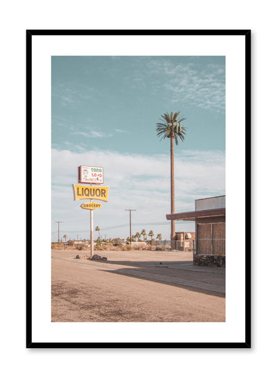 Modern minimalist photography poster by Opposite Wall with picture of road sign.