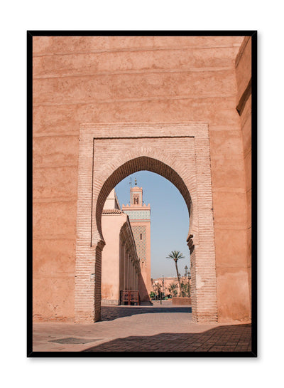Modern photography poster by Opposite Wall with arched doorway into Morocco