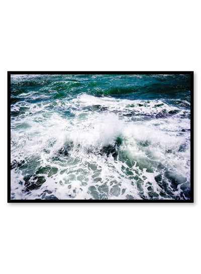 Modern photography poster by Opposite Wall with crashing ocean waves
