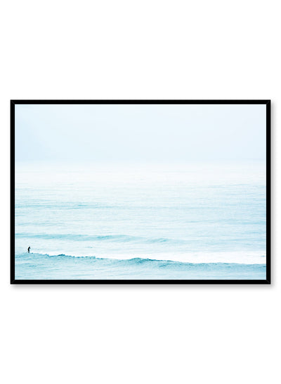 Modern minimalist photography poster by Opposite Wall with blue ocean waves
