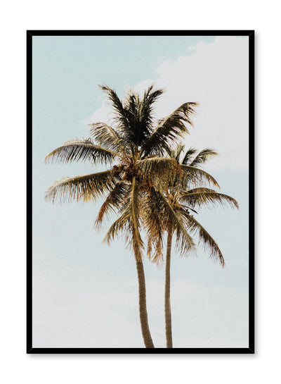 Modern minimalist photography poster by Opposite Wall with palm tree against blue sky