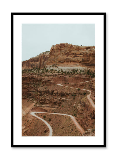 Landscape photography poster by Opposite Wall with picture of winding road