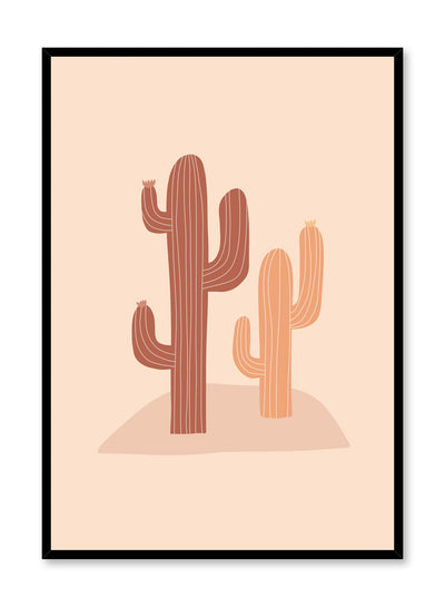 Modern minimalist illustration by Opposite Wall with beige cacti