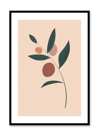 Modern minimalist poster by Opposite Wall with single leaf on beige background
