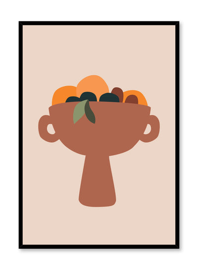 Modern minimalist poster by Opposite Wall with bowl of fruits