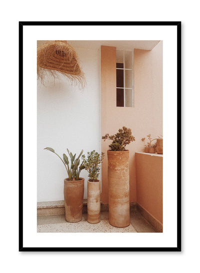 Architecture photography poster by Opposite Wall with trio of terracotta planters