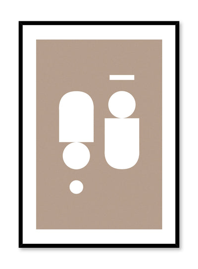 Modern minimalist poster by Opposite Wall with symmetrical abstract design, Near Symmetry in Beige