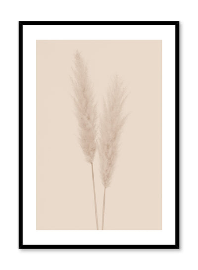 Minimalistic wall poster by Opposite Wall with grasses botanical photography in beige