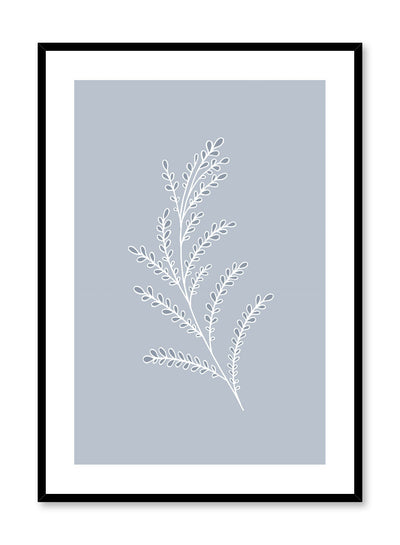 Modern minimalist botanical illustration poster by Opposite Wall with Baby Blue Branch